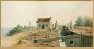 the last lock of the Lachine Canal, 1826