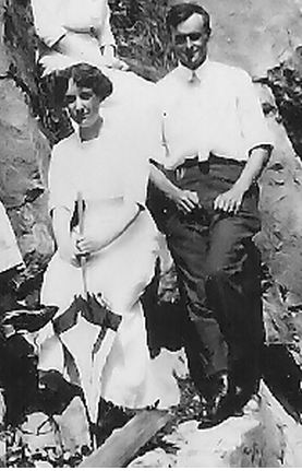 Edith and her beau circa 1909 somewhere near Potton Springs in the Eastern Townships of Quebec