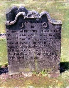 Robert Hamilton & Janet Renwick Gravestone imp