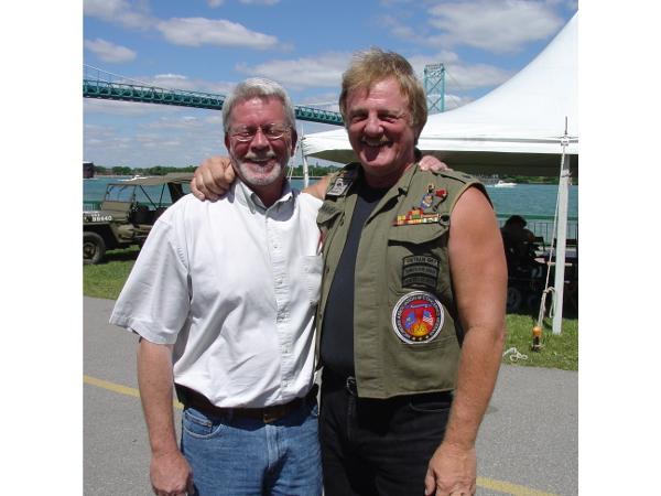 Ed Johnson and Ric Gidner, July 2005