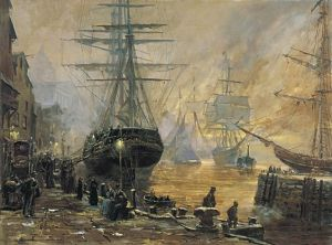 The ship Ellen Maria prepares to sail from Liverpool, England, for America on February 1, 1851. At the time, over 50,000 Latter-day Saints lived in the British Isles. Emigration was possible as the result of the Perpetual Emigrating Fund, which loaned money to impoverished Latter-day Saints on the promise they would repay the loan so others could emigrate. Thousands of converts emigrated to join the Saints in America.