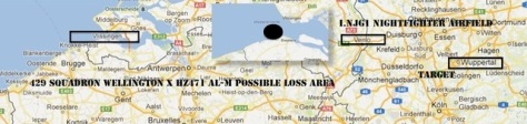 429 Squadron possible loss area