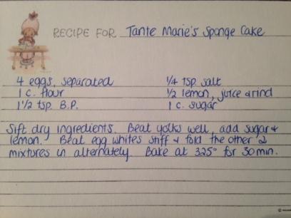 Tante Marie's Sponge Cake