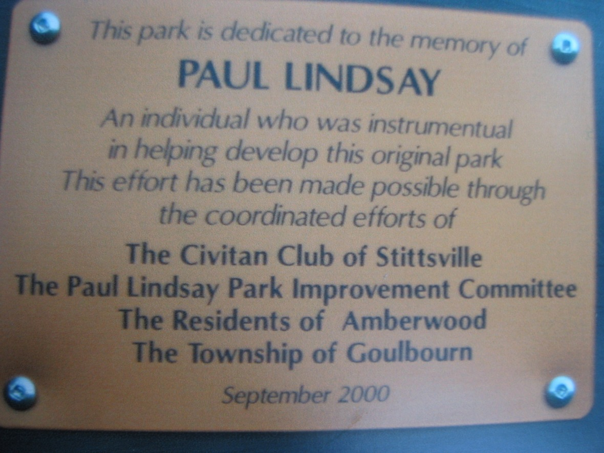 Paul Lindsay memorial