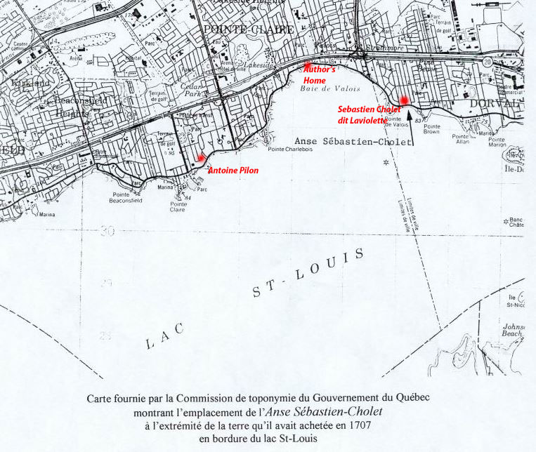 map of Cholet cove copy